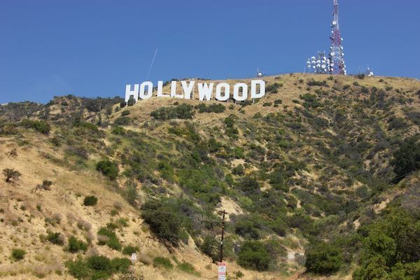 Innsdale Drive, Mulholland Highway, and Mount Lee Drive to the Hollywood Sign